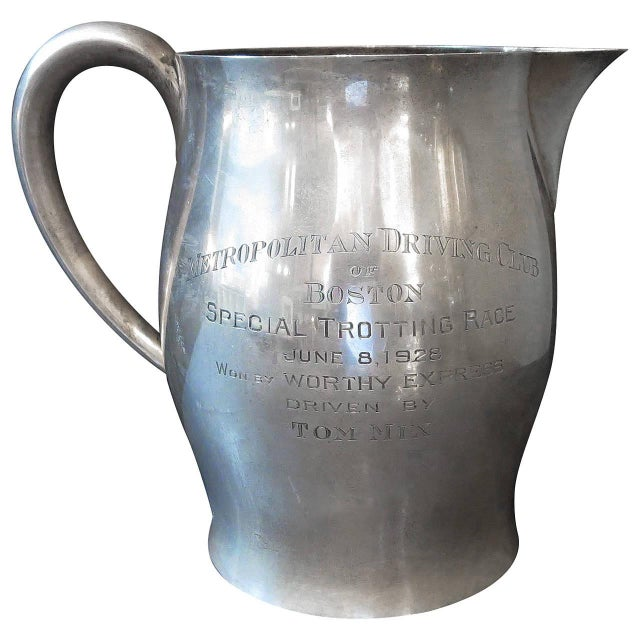 Silver Tom MIX Sterling Pitcher From Metropolitan Driving Club, Boston 1928 For Sale - Image 8 of 8