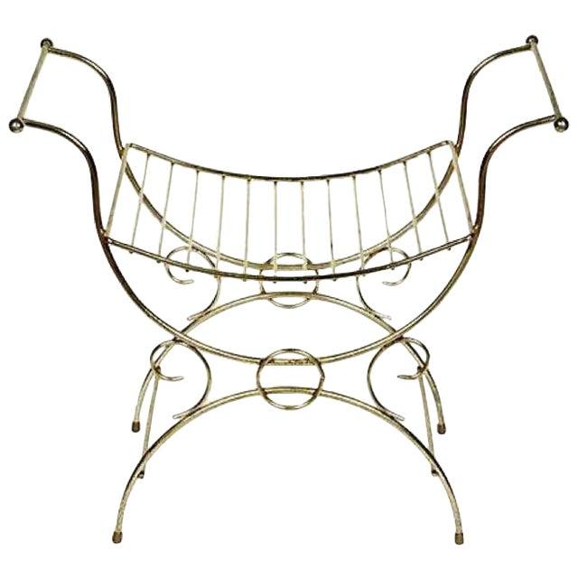1960s Gilt Metal Vanity Seat - Image 1 of 4