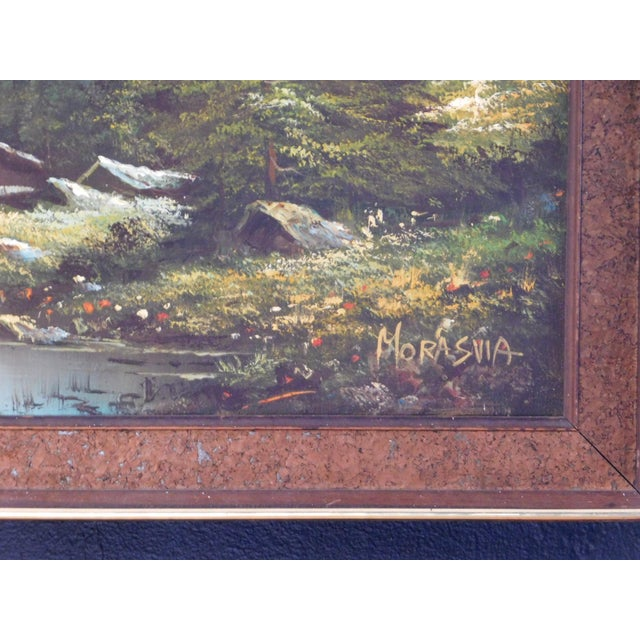 1960s Mid 20th Century Mountain Landscape Oil Painting, Framed For Sale - Image 5 of 6