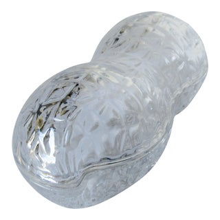 Crystal Peanut-Shaped Decorative Lidded Box For Sale