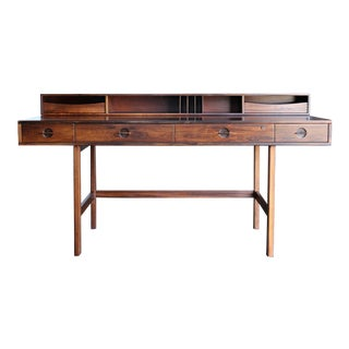 Peter Løvig Nielsen Flip Top Rosewood Desk, Circa 1969 For Sale
