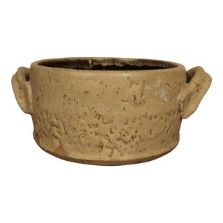 Final Markdown! 1980's Vintage Original Hand Thrown Rustic Cachepot For Sale