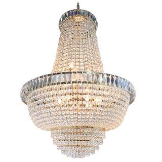 Nine-Light Crystal Chandelier For Sale