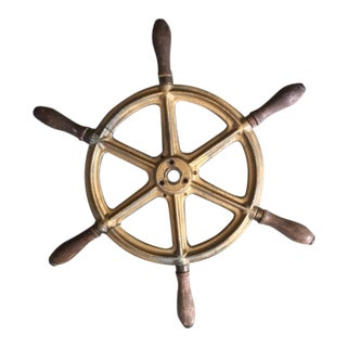 19th Century Antique Ship's Wheel Nautical Salvage For Sale