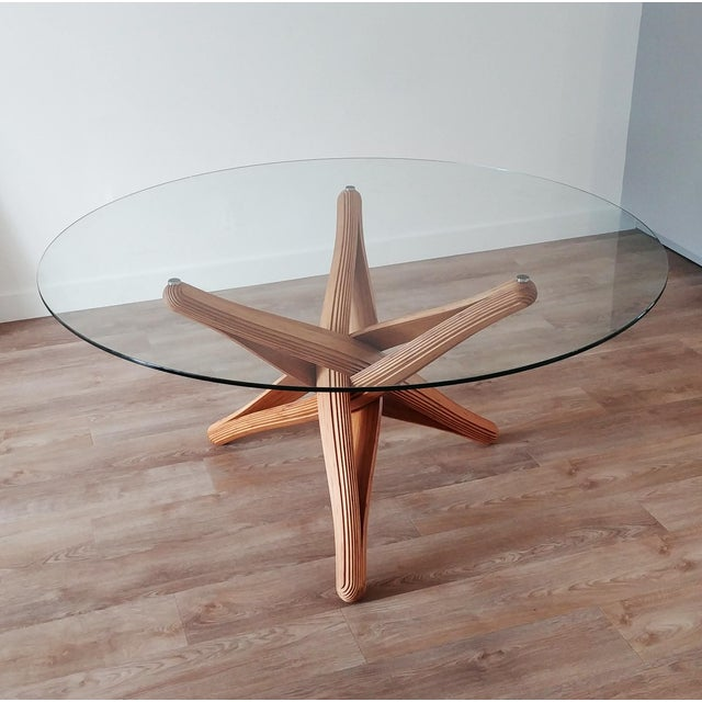 Mid-Century Modern Lock Bamboo Dining Table Base For Sale - Image 6 of 13