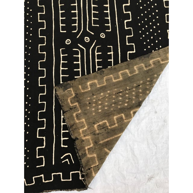 African Handmade Mud Cloth Tribal Design Textile For Sale - Image 5 of 9