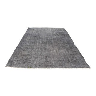 Turkish Handmade Gray Wool Area Rug - 7'x10' For Sale