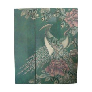 Three-Panel Lacquer Oriental Wall Hanging