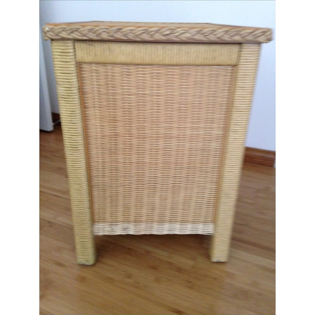 Vintage Wicker Henry Link Nightstand - Image 7 of 8