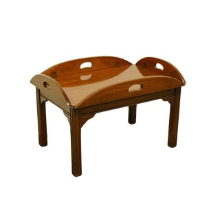 1960s Traditional Thomasville Furniture Collector's Cherry Coffee Table For Sale
