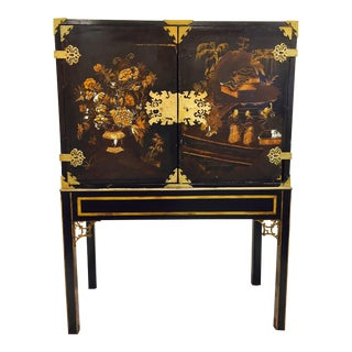 Antique Chinoiserie Chest on Stand