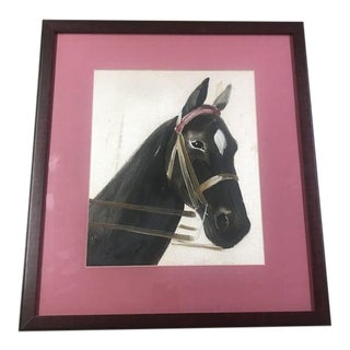 Framed Original Horse Head Painting For Sale