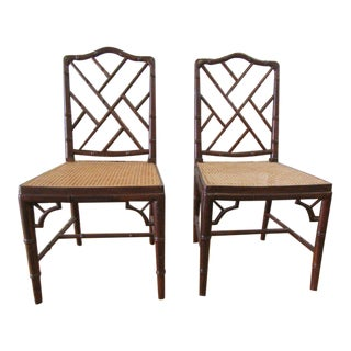 Chippendale Chairs - a Pair For Sale