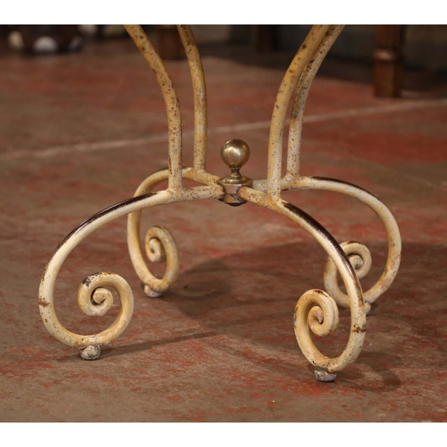 French 19th Century Napoleon III French Iron and Wood Gueridon Pedestal Table For Sale - Image 3 of 8