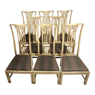 Sebastian Side Chairs Thomas O'Brien for Hickory Chair—set of 8 For Sale
