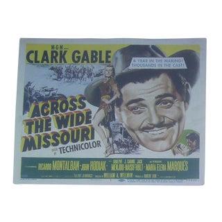 1951 Clark Gable Lobby Cards - Set of 8