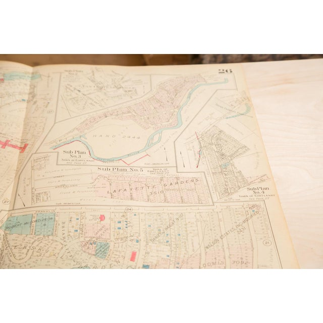 :: Vintage 1930s Hopkins Map of the Village of Peekskill, Westchester County, New York. Condition notes: Overall very...