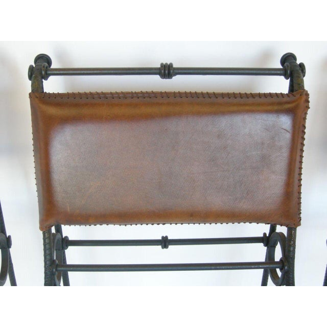 Set of Five Illana Goor Iron Bar Stools For Sale - Image 10 of 11