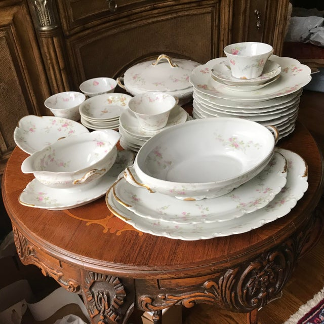 Antique , Rare Theodore Haviland Limoges France Partial Set 34 Pieces, Dinnerware For Sale - Image 9 of 13