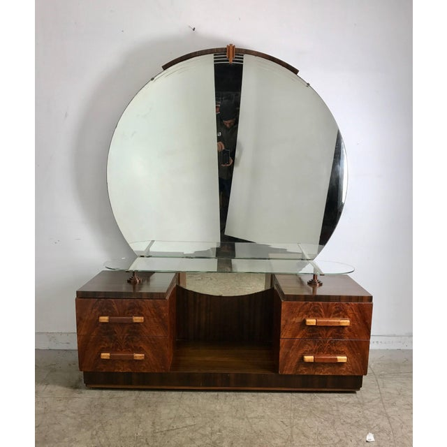 Art Deco American Art Deco Vanity / Dressing Table in the Manner of Donald Deskey For Sale - Image 3 of 10