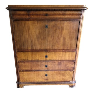 19th Century Biedermeier Mahogany Drop Front Desk For Sale