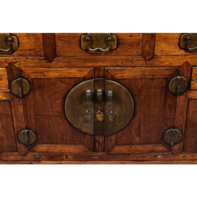 Brown 19th C. Chinese Poplar Sideboard For Sale - Image 8 of 10