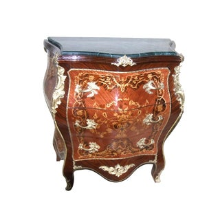 French Antique Style Marble Chest For Sale