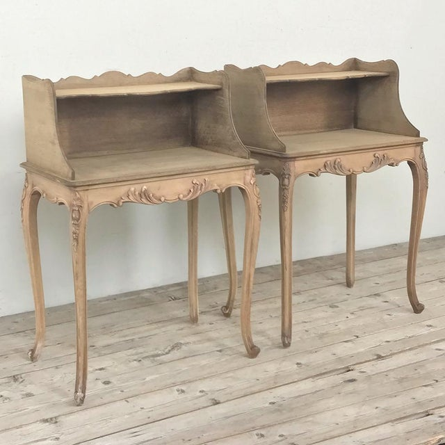 Pair Country French Provincial Nightstands For Sale - Image 4 of 13