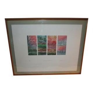 """1980s Jacques Brousseau """"Le Chemin De Traverse"""" Etching Print For Sale"""