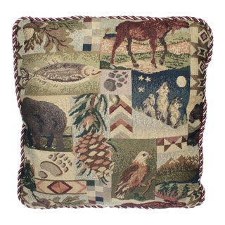 Rustic Outdoors Motif Throw Pillow For Sale