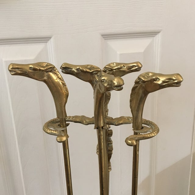 Pleasant Vintage Brass Horse Head Fireplace Tools Download Free Architecture Designs Grimeyleaguecom