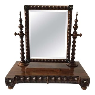 1870s English Shaving Mirror For Sale