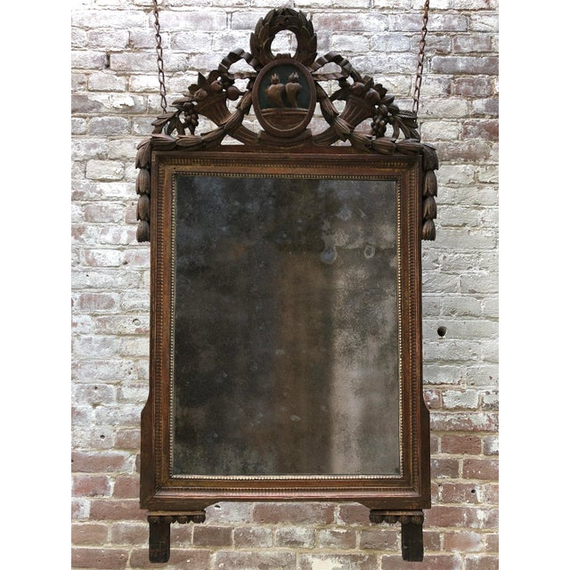 Wood Louis XVI Mirror, 18th Century For Sale - Image 7 of 8