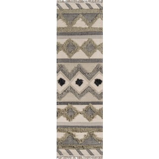 Novogratz by Momeni Indio Avalon in Sage Rug - 2'X8' Runner For Sale