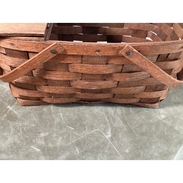 1920s Rustic Wooden Baskets - Stack of 2 For Sale - Image 9 of 11