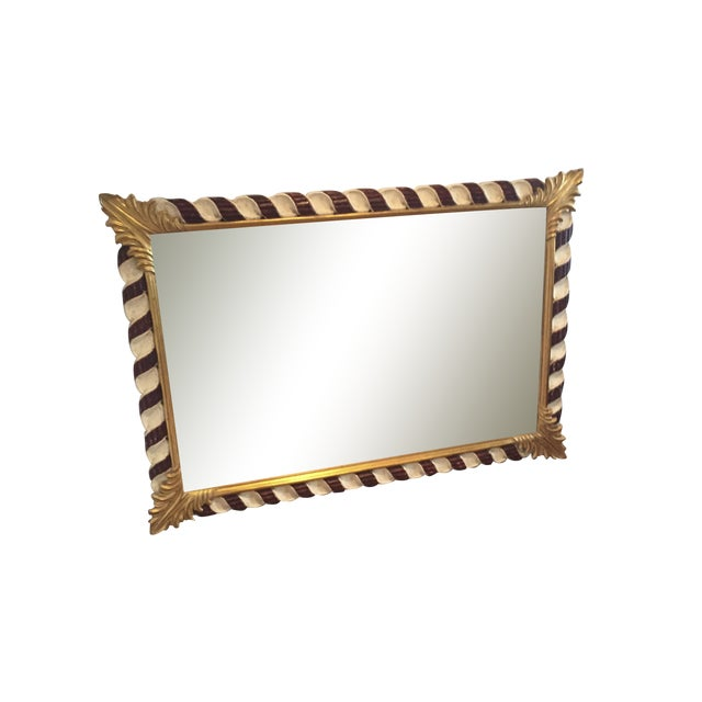 Harrison and Gil Hand Carved Dauphine Mirror For Sale