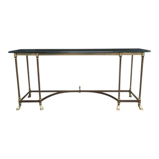 Glass Top & Brass Console