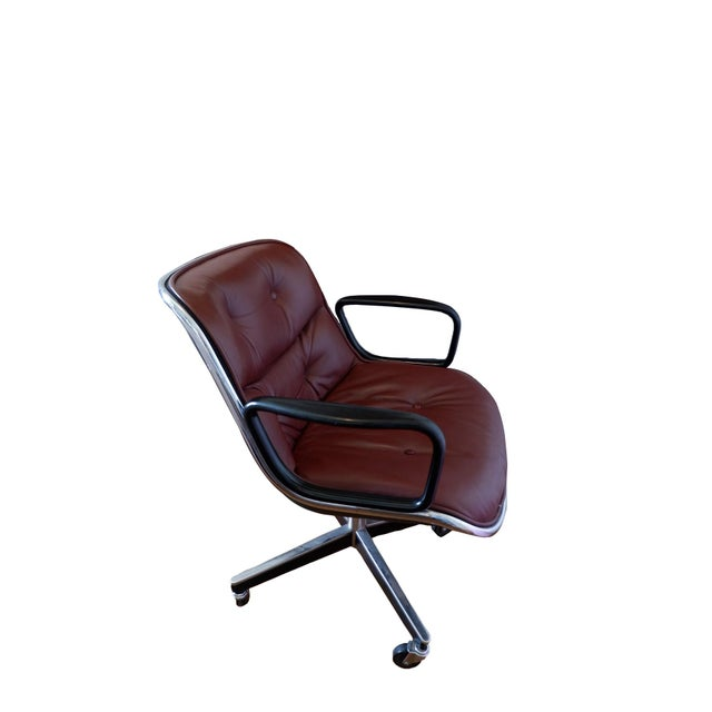 Mid-Century Mahogany Executive Desk Chair by Charles Pollock for Knoll For Sale - Image 9 of 9