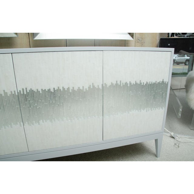2010s Contemporary Mosaic Glass 4 Door Buffet For Sale - Image 5 of 10