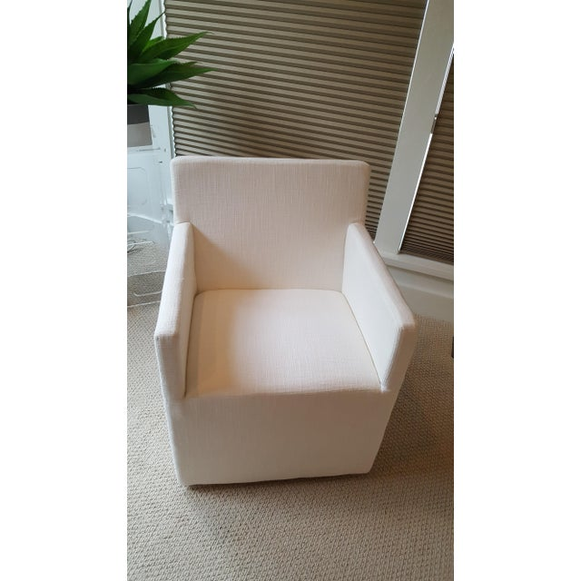 Restoration Hardware Modern New Ellison Track Arm Dining Chairs - Set of 6 For Sale - Image 5 of 11
