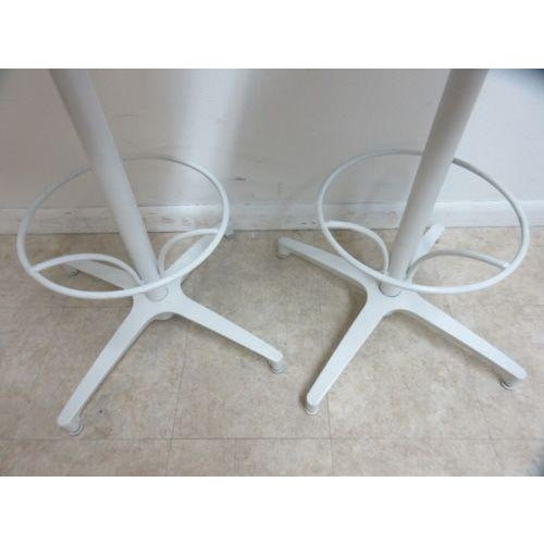 Metal Rare Vintage Woodard Wrought Iron Out Door Patio Counter Bar Stools - a Pair For Sale - Image 7 of 10