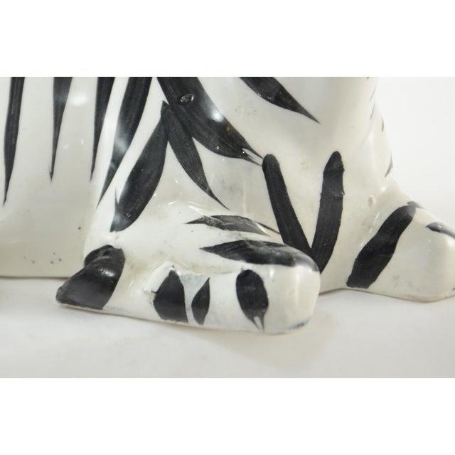 Ceramic Italian Hand Painted Zebra For Sale - Image 7 of 10