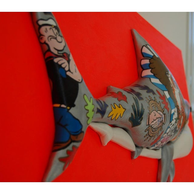 "Enrico Cecotto ""Supershark"" Contemporary Sculptural Painting For Sale - Image 9 of 10"