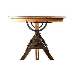 1950s Boho Chic Oak & Pine Drafting Table For Sale