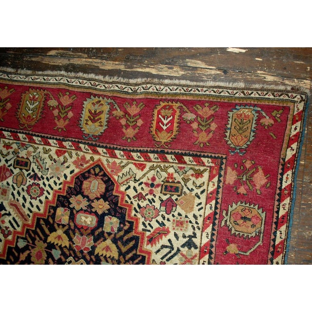 Late 19th Century 1880s Antique Hand Made Caucasian Karabagh Rug- 4′6″ × 11′7″ For Sale - Image 5 of 10