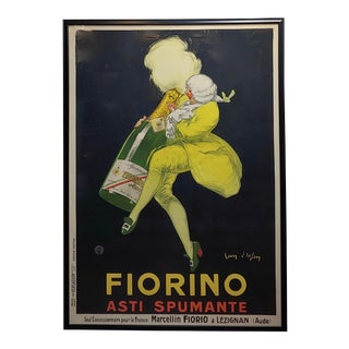 "1920s Large ""Fiorino Asti Spumante"" French Poster For Sale"