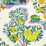 Image of Sample - Schumacher X Josef Frank Citrus Garden Wallpaper in Primary For Sale