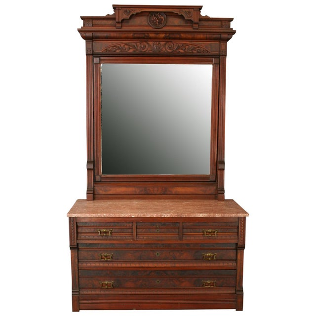 Antique Eastlake Vanity Table - Image 1 of 8