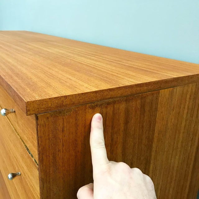 Gold Newly Refinished 8 Drawer Mahogany Dresser by Paul McCobb for Calvin For Sale - Image 8 of 12