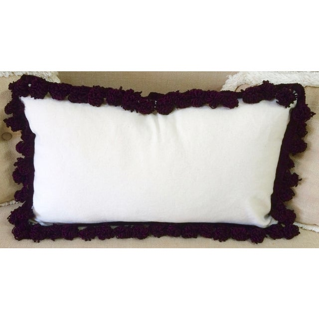 African Tassel Trimmed Wax Cloth Pillows - A Pair - Image 5 of 6
